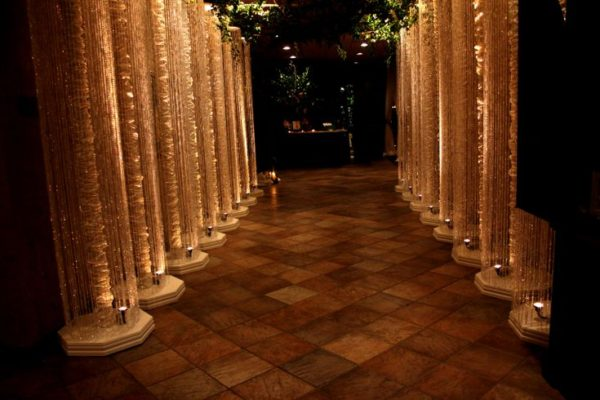 lighted column walkway